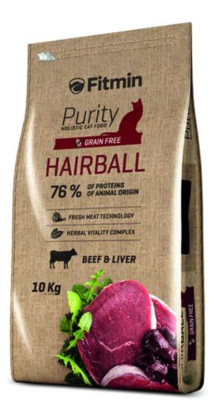 Корм Fitmin cat Purity Hairball