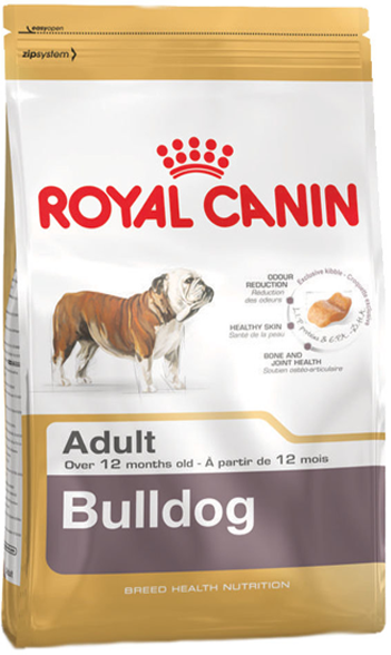 Royal Canin Bulldog Adult корм для собак породы Английский бульдог старше 12 месяцев
