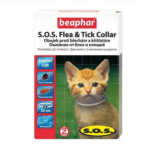 Ошейник SOS Flea & Tick Collar для котят, 35 см