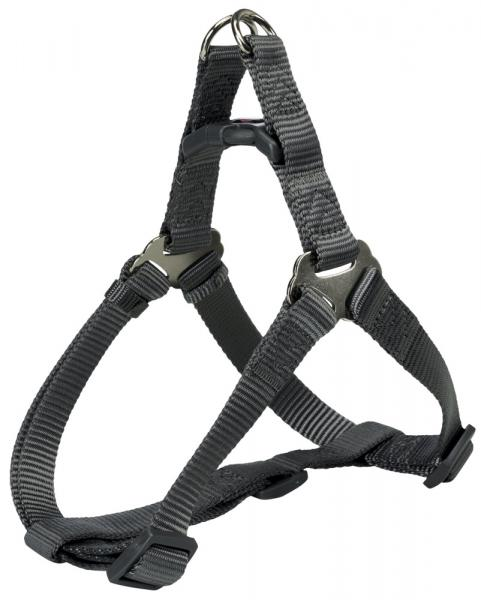 "Шлея ""TRIXIE"" для собак ""Premium One Touch harness"", (L), 65-80см/25мм, графит"