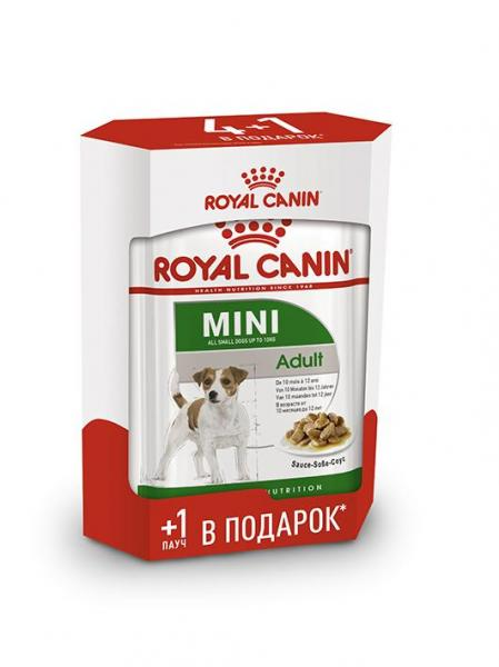 Набор 4+1 Royal Canin Adult Mini (в соусе) 85г
