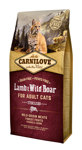 Carnilove Lamb&Wild Boar for Adult Cats Sterilised