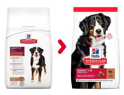 Hill's Science Plan Canine Adult Advanced Fitness Large Breed L&R корм для собак крупных пород, ягненок и рис