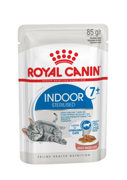 Royal Canin Indoor Sterilized 7+  (в соусе)